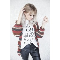 SUZANNE STRIPES BROWN - GILET
