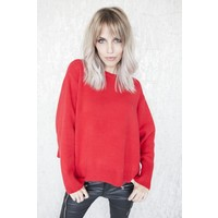 PERFECT BASIC RED - SWEATER
