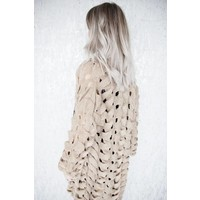 BRAIDED TAUPE - GILET
