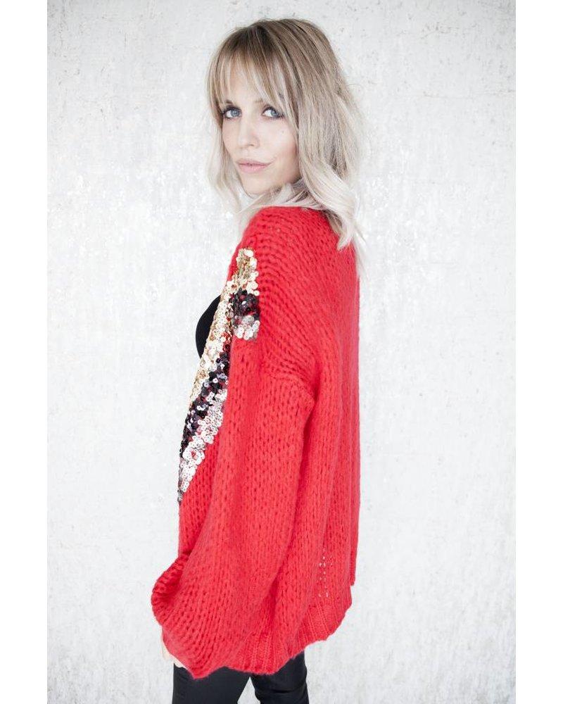 VERO GLITTER RED - BERNADETTE