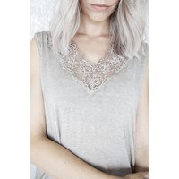 MELANY LACE TAUPE - TOP