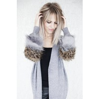 PEARLS AND FUR GREY - GILET