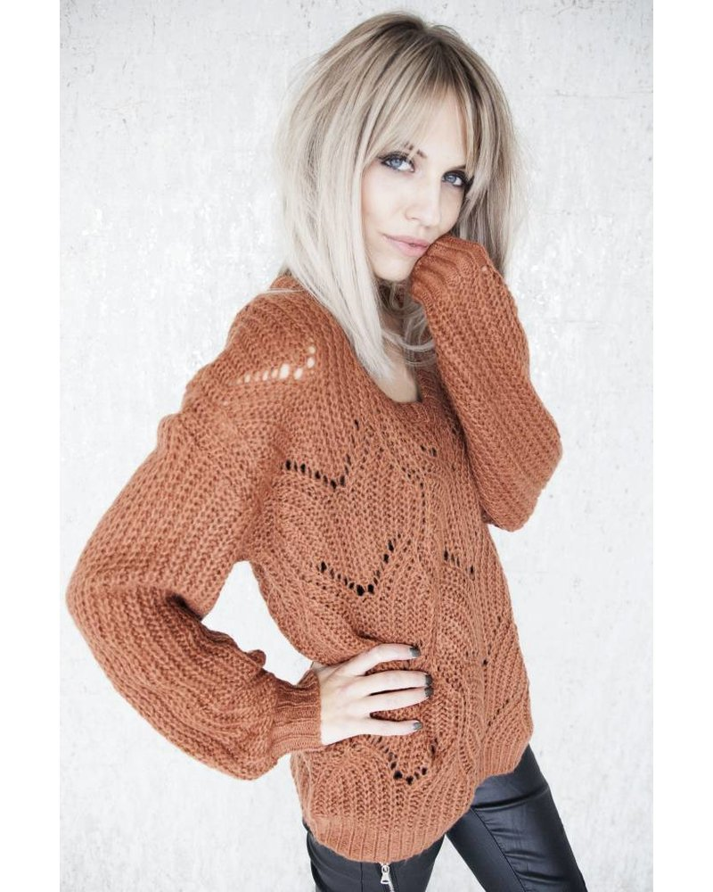 MARIE KNIT RUSTY - SWEATER