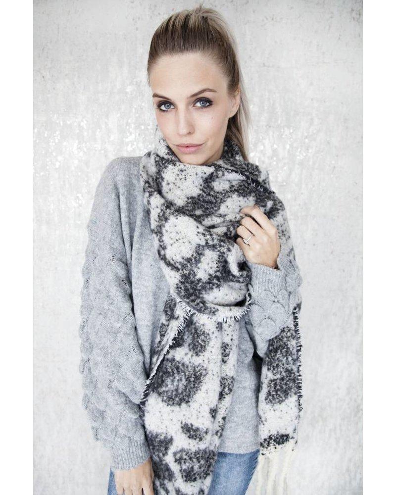 WARM ANIMAL WHITE/BLACK - SJAAL