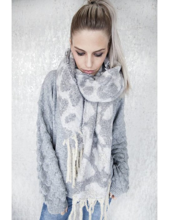 ellemilla WARM ANIMAL GREY/WHITE