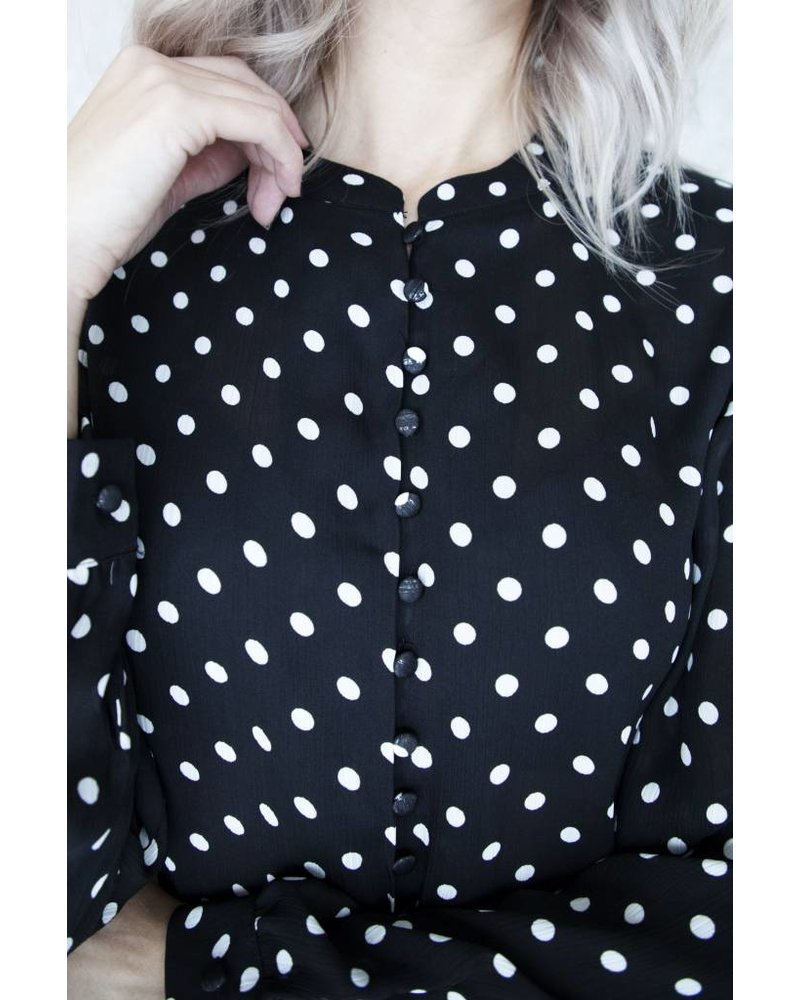 MAYA DOTS BLACK - BLOUSE