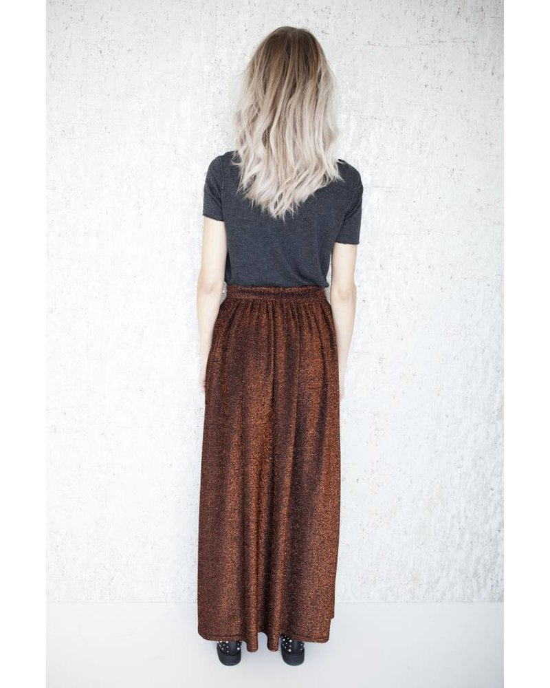 LONG SHINY RUSTY - SKIRT