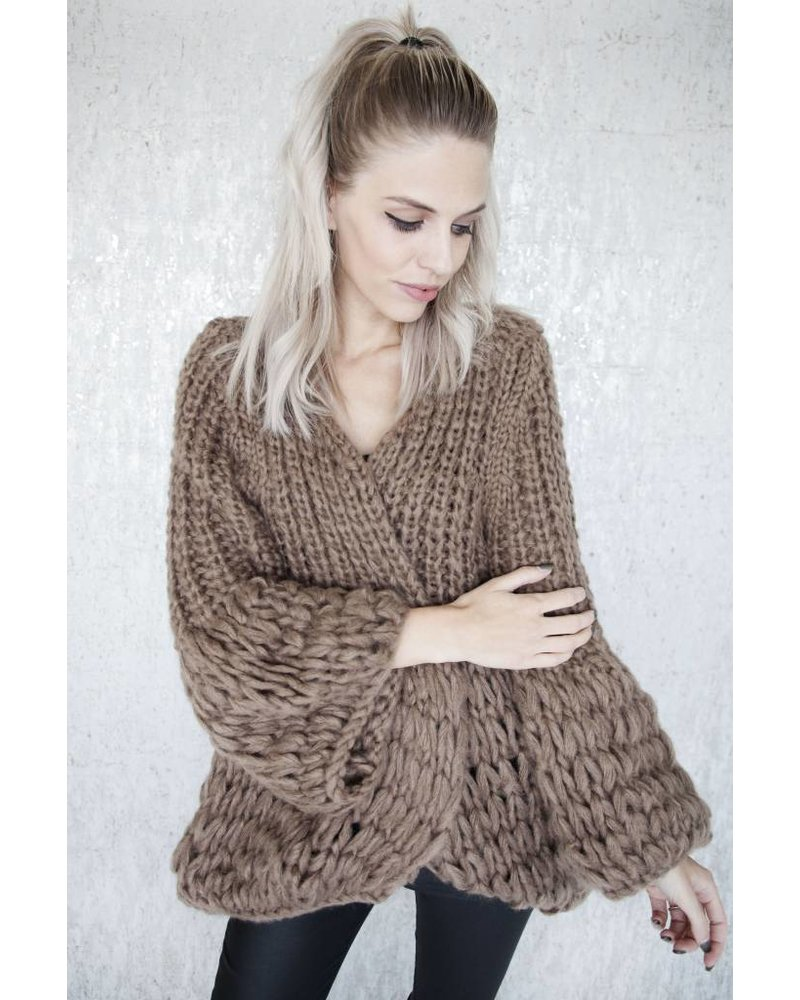 SUPER BRAIDED BROWN - GILET