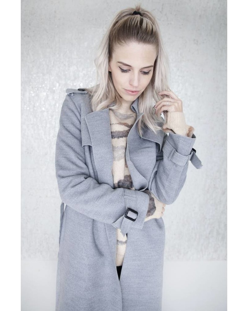 SOFT TRENCH GREY - JACKET