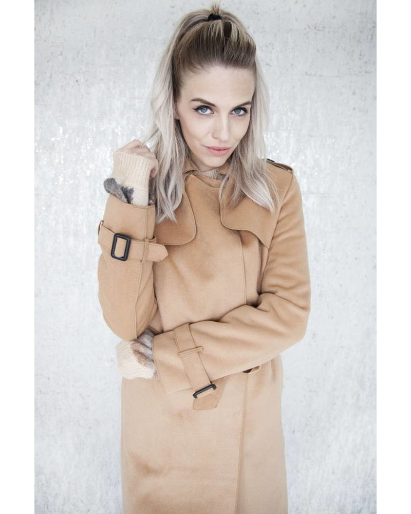 SOFT TRENCH CAMEL - JACKET
