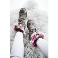 CAMOUFLAGE PINK - BOOTS