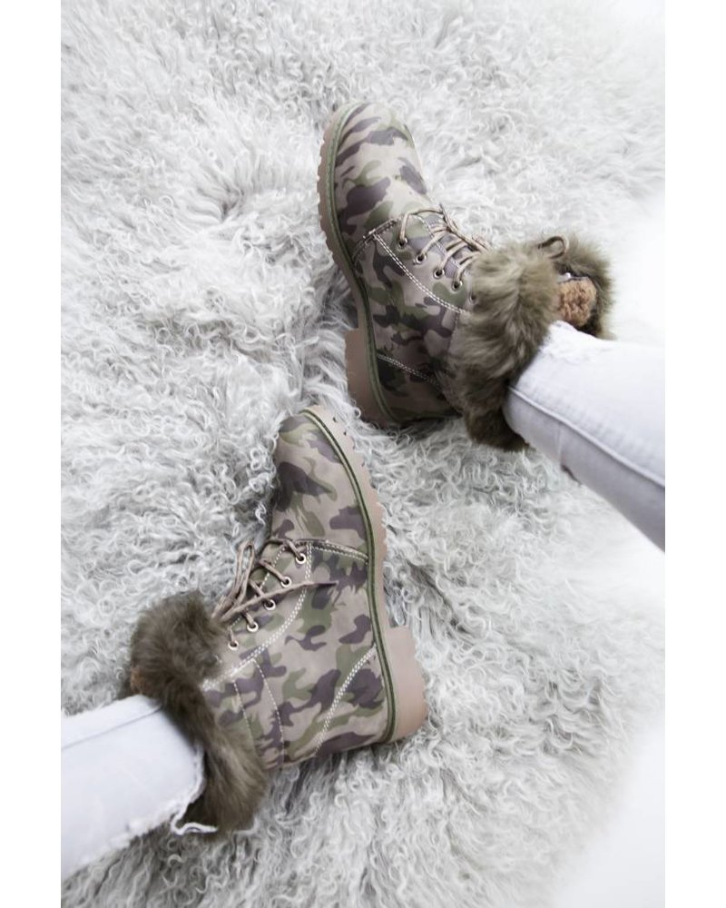 CAMOUFLAGE GREEN - BOOTS