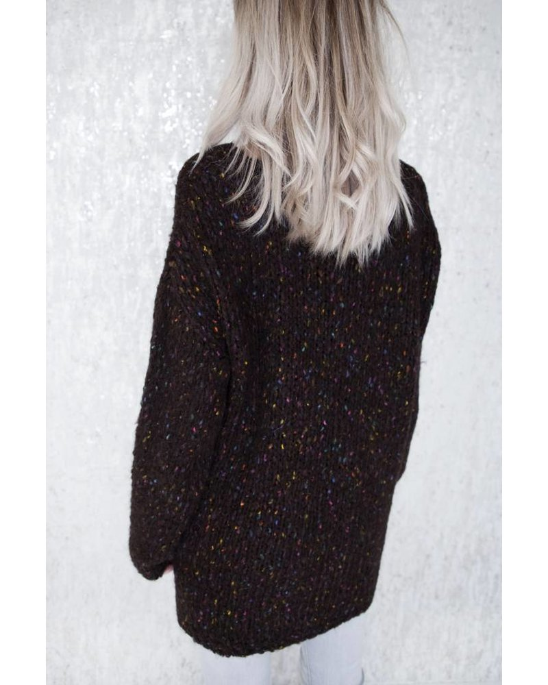 COLORFUL BROWN - SWEATER