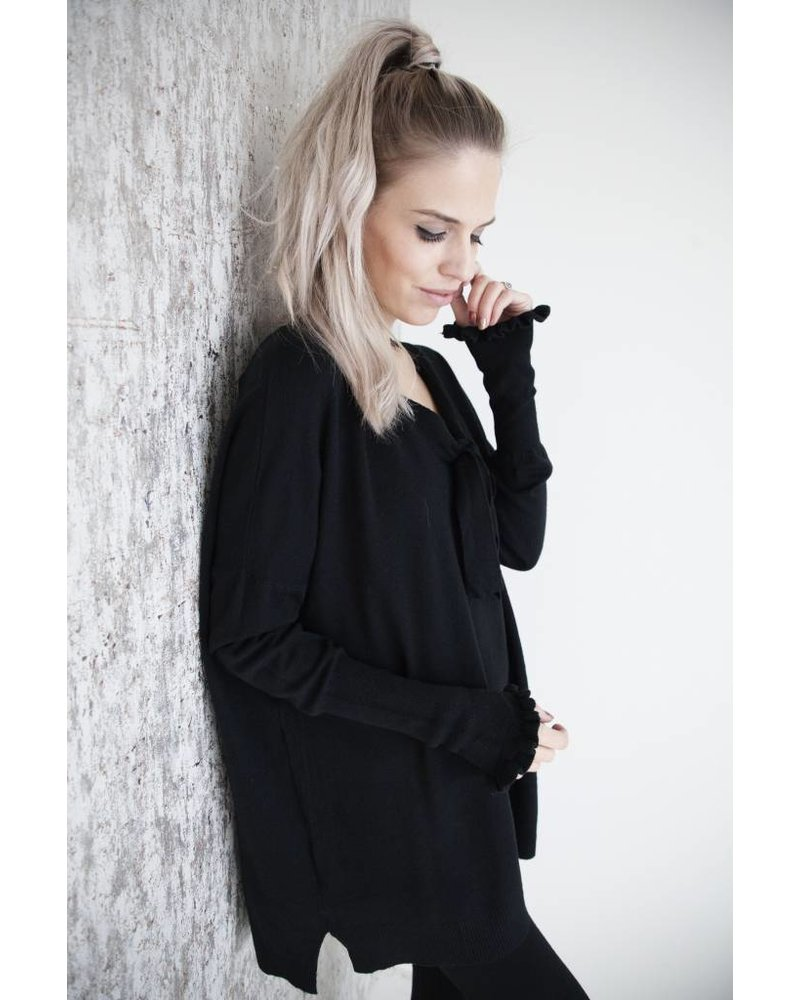 STAY AT HOME BLACK - COMFY SET