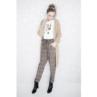 CHECK BROWN - BROEK