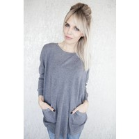 BASIC BEA GREY - SWEATER