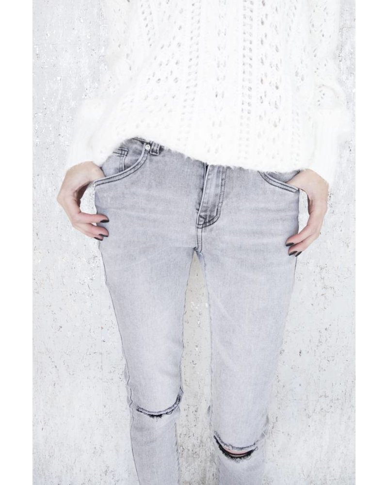 MY RIPPED GREY - JEANS