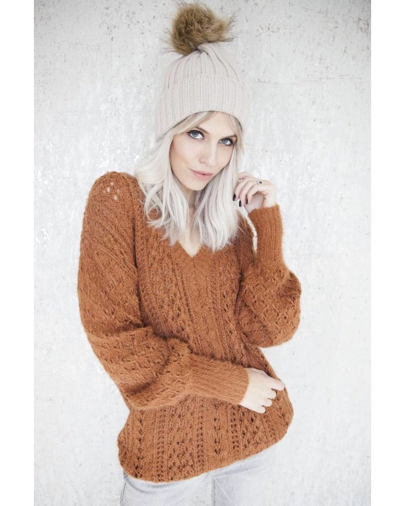DIANA KNIT RUSTY - TRUI