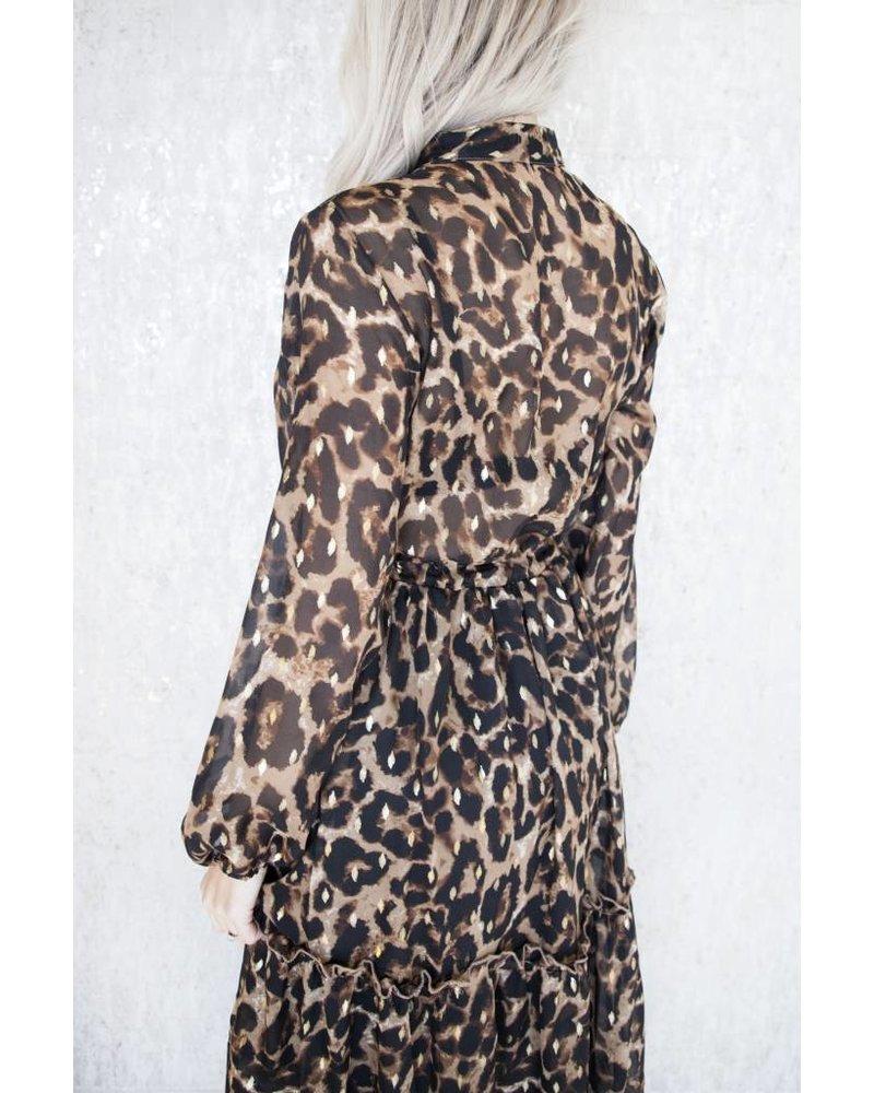LONG PARTY LEOPARD - DRESS