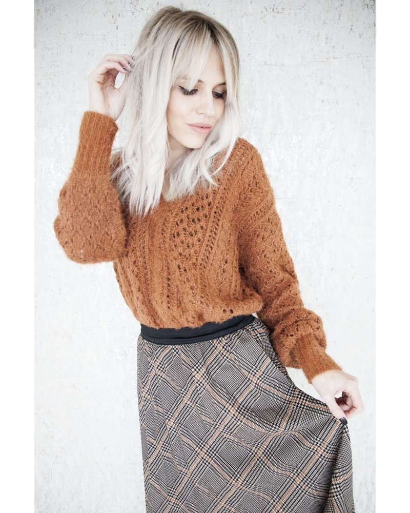 MARIE CHECK BROWN - SKIRT