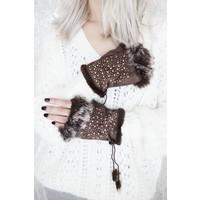 WINTER HANDS BROWN - GLOVES