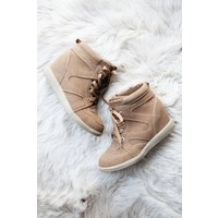 ISABELLE CAMEL WEDGE - SNEAKERS