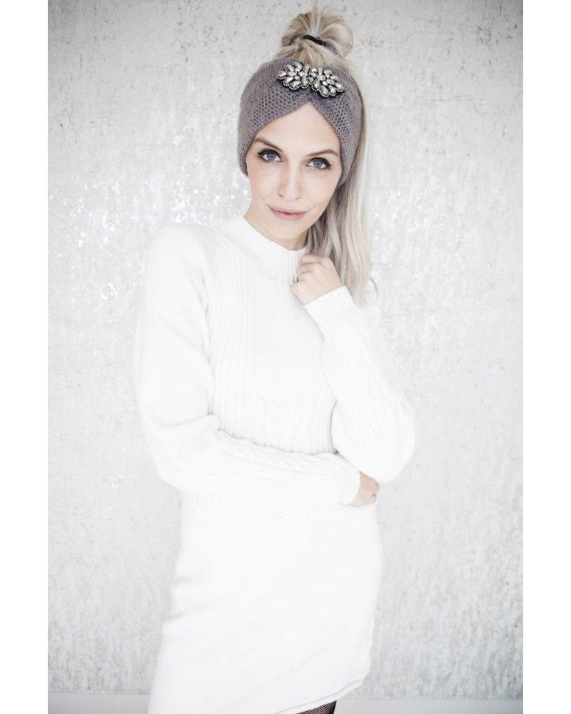 WARM MANDY WHITE - SWEATERDRESS