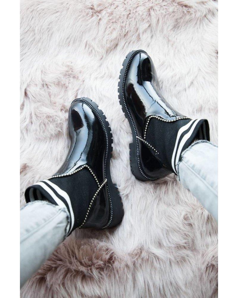 CLASSY SOCKS BLACK - BOOTS