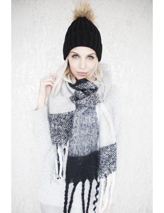 ellemilla WARM CHECK BLACK/WHITE