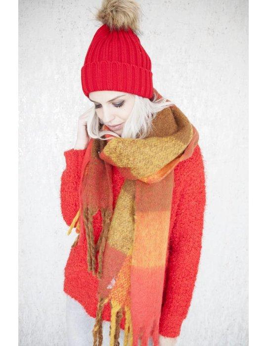 ellemilla WARM CHECK RED/MUSTARD