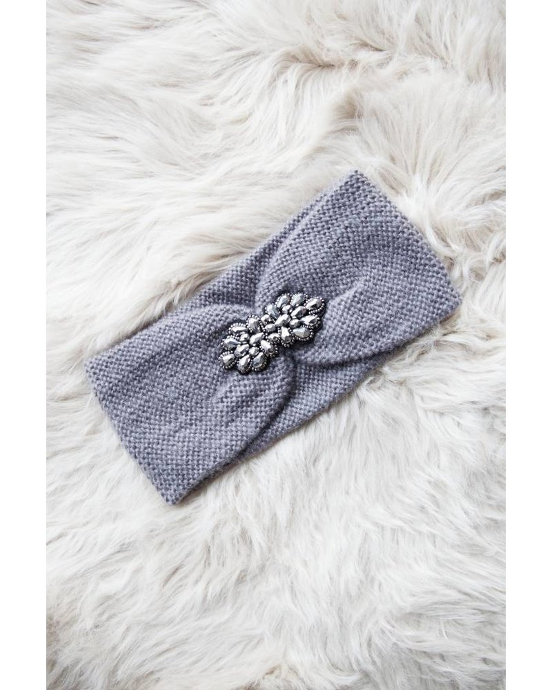 KNITTED WINTER GREY - HAARBAND