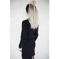 WARM MANDY BLACK - SWEATERDRESS