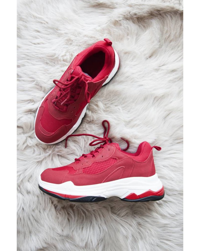 YOU NEED ME RED - SNEAKERS