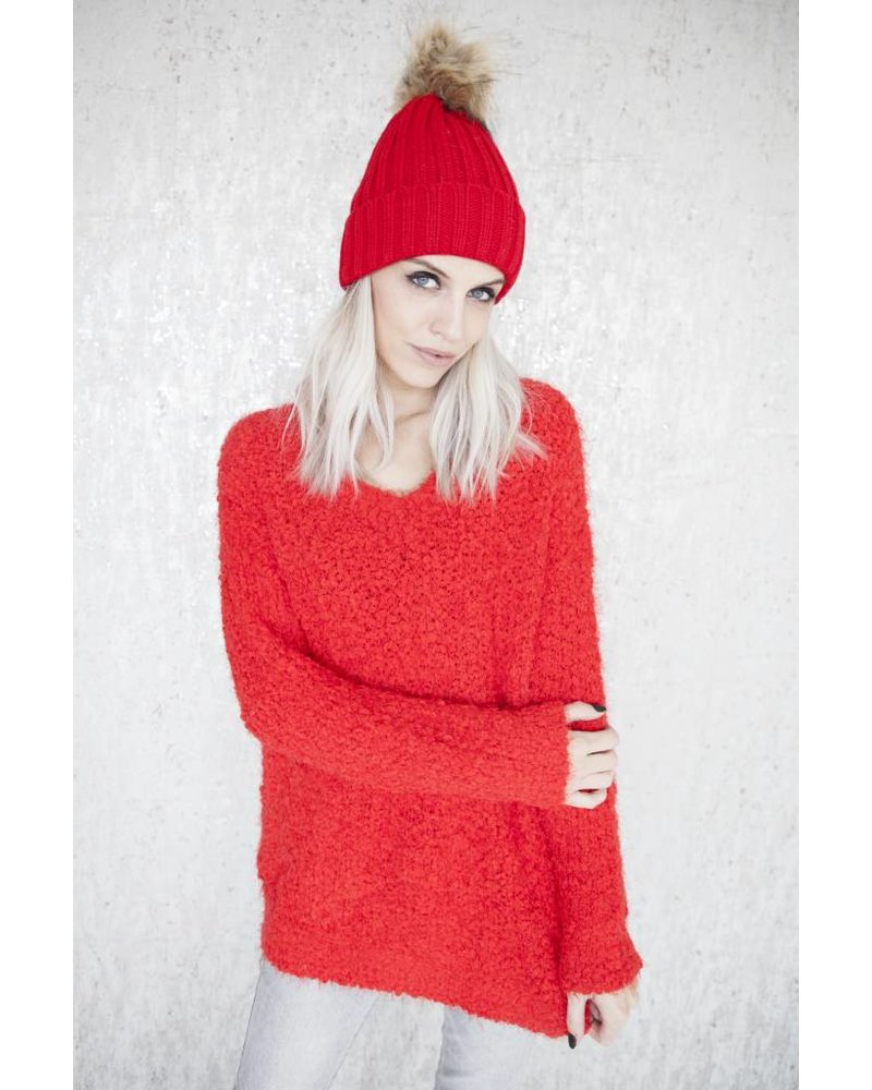 LINDSY RED - SWEATER
