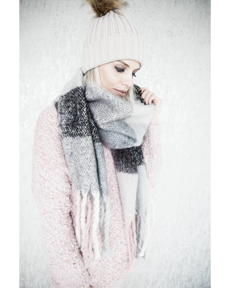 WARM CHECK PINK/BLACK -SJAAL