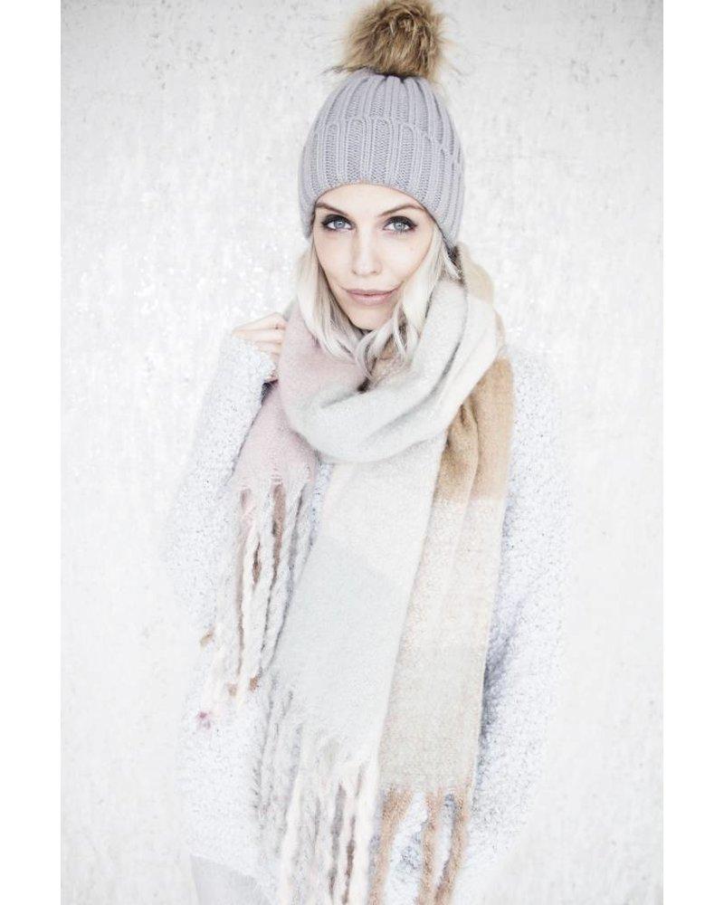 WARM CHECK CAMEL/GREY -SJAAL