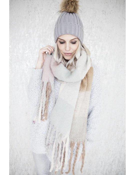 ellemilla WARM CHECK CAMEL/GREY