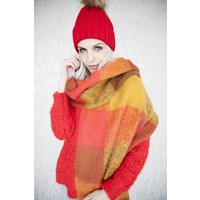 WARM CHECK RED/MUSTARD -SJAAL
