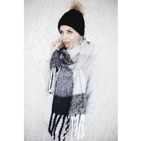 WARM CHECK BLACK/WHITE -SJAAL