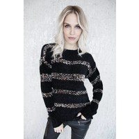 HUG ME STRIPES BLACK - TRUI