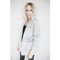 AMELIE KNIT GREY - GILET
