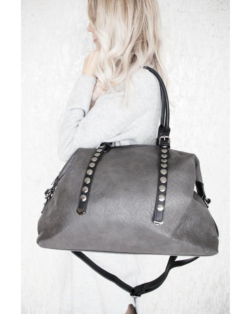 DUFFEL BAG GREY - HANDTAS