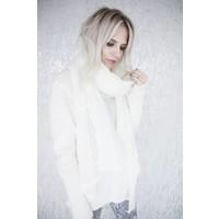 FINE LUNA WHITE - SWEATER