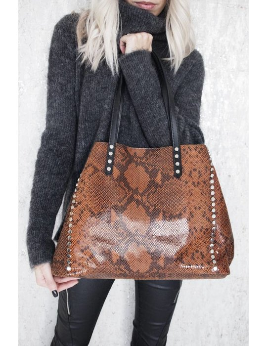 ellemilla IT SNAKE BAG CAMEL