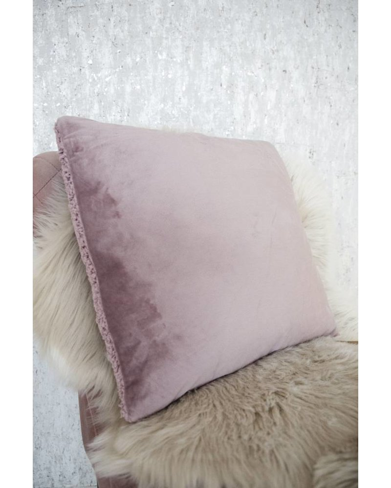 SUPER SOFT TEDDY MAUVE - KUSSEN