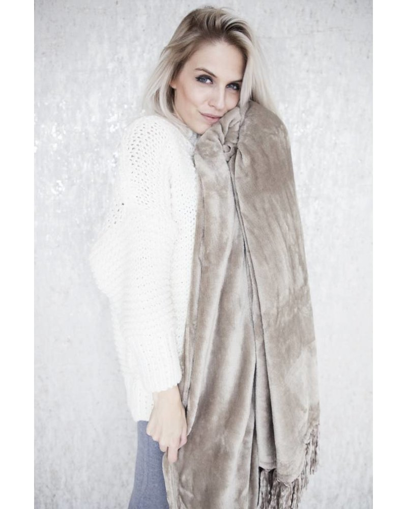 WARM UP TAUPE - PLAID