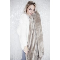WARM UP XL TAUPE - PLAID