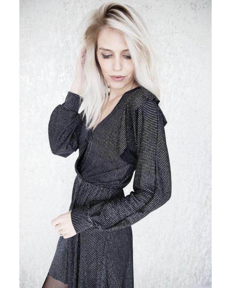 GLITTERS & SPARKLES GREY - DRESS