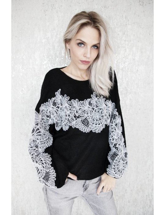 ellemilla LACE FOR HOLIDAY BLACK