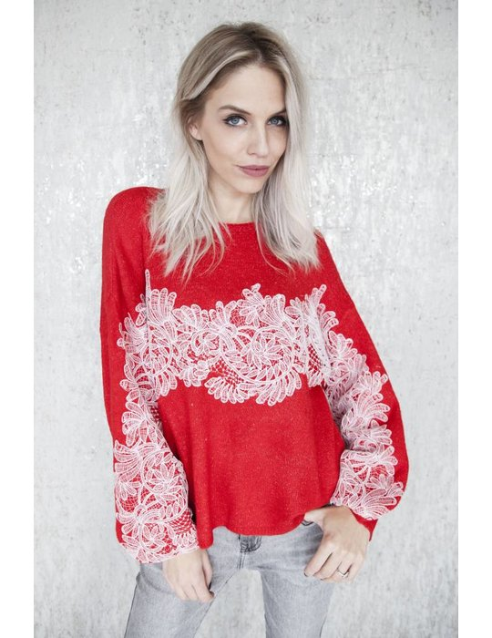 ellemilla LACE FOR HOLIDAY RED